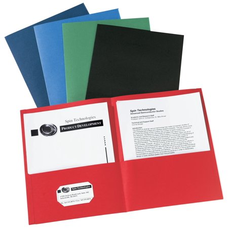 Avery Two-Pocket Folders, 40-Sheet Capacity, 25 Assorted Folders (47993) 2 Tone Pocket Folders