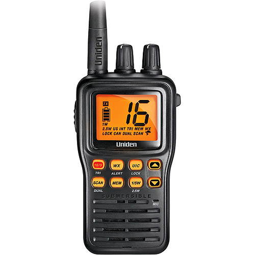 Uniden Compact Hand-Held JIS8 Submersible Marine Radio