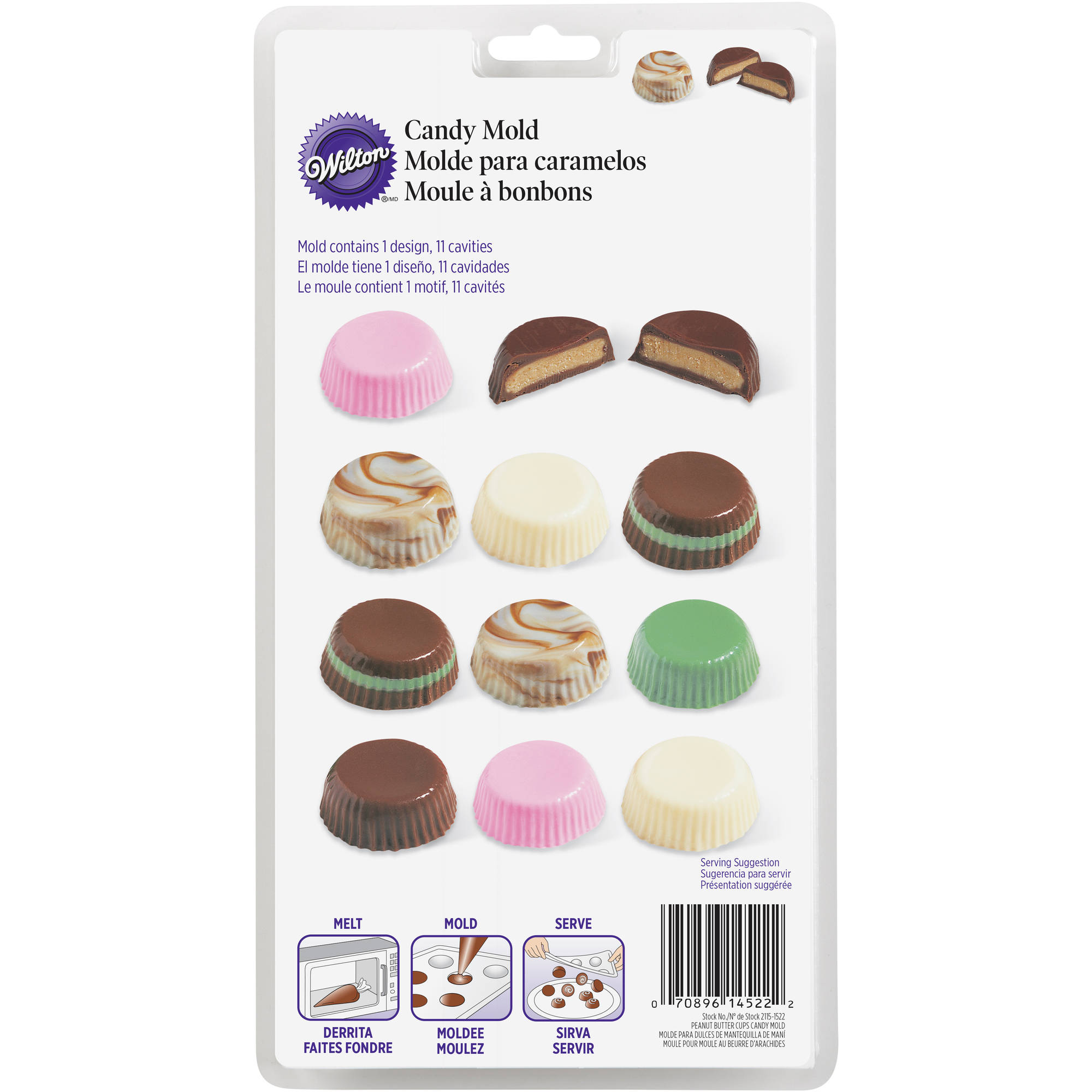 Wilton 1Individual Candy Mold, Peanut Butter Cups 2115-1522