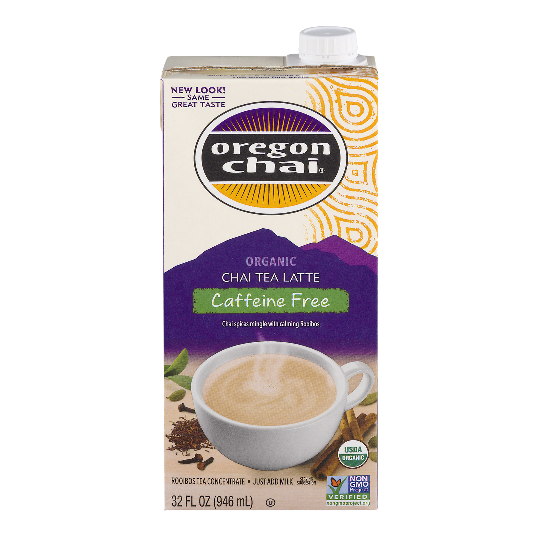 Oregon Chai® Concentrate, Caffeine Free, Organic, 32 Fl Oz