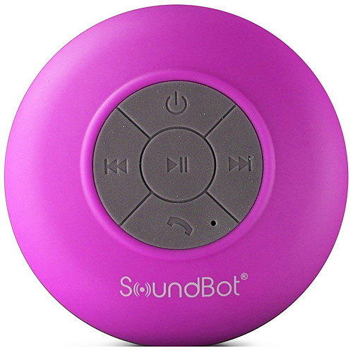SoundBot® SB510 HD Water Resistant Bluetooth 3.0 Shower Speaker, Handsfree Portable Speakerphone with Built-in Mic, 6hrs of playtime, Control Buttons and Dedicated Suction Cup for Showers, Bathroom, Pool, Boat, Car, Beach, & Outdoor Use, Yellow [Yellow, standard]