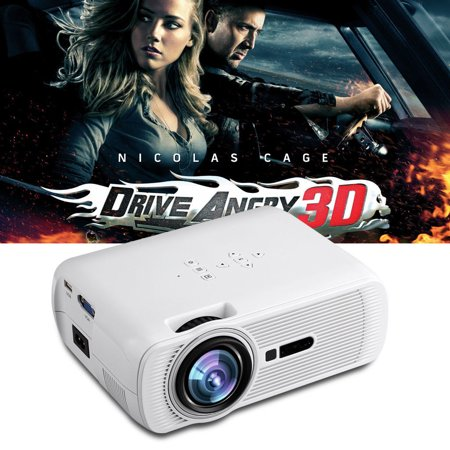 Portable 2300Lumen Hd 3D Led Projector Home Cinema Theater Vga Usb Av Hdmi Bl 80 Manual Focus Adjusting