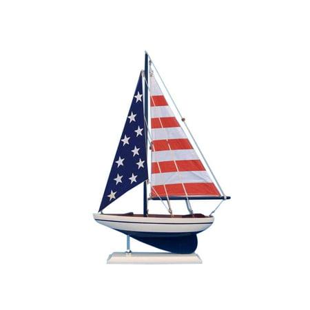 Beach Theme Centerpiece Ideas (USA Flag Sailer 17
