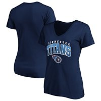 Women's Fanatics Branded Navy Tennessee Titans Faded Arch V-Neck T-Shirt
