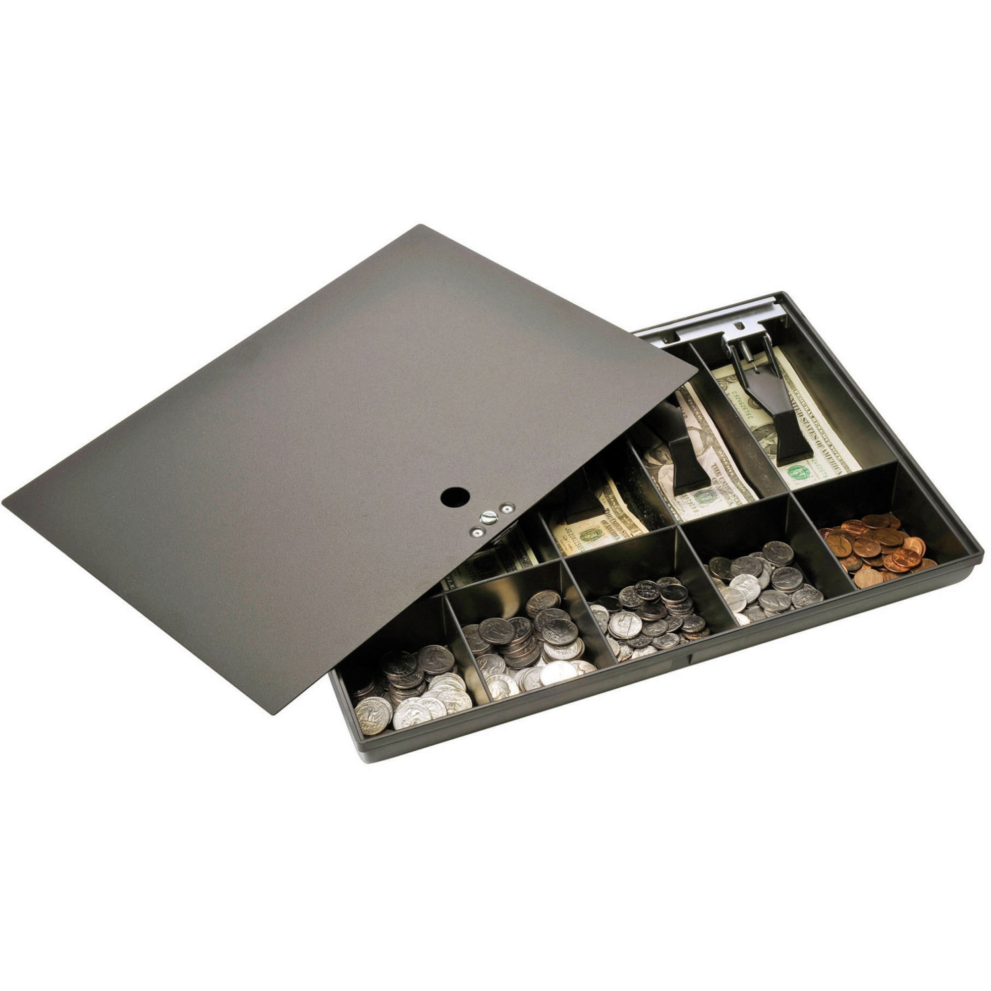 MMF, MMF2252862C04, Cash Drawer Tray with Locking Cover, 1, Black