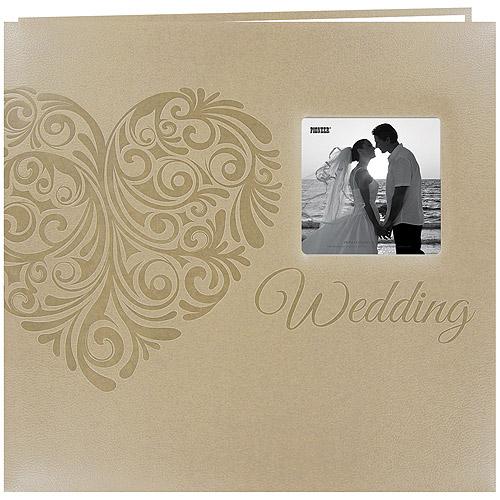"Embossed Wedding Post Bound Album, 12"" x 12"", Heart"