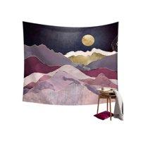 Suefunskry Moon Mountain Wall Hanging Beach Towel Art Tapestry Dorm Home Decor
