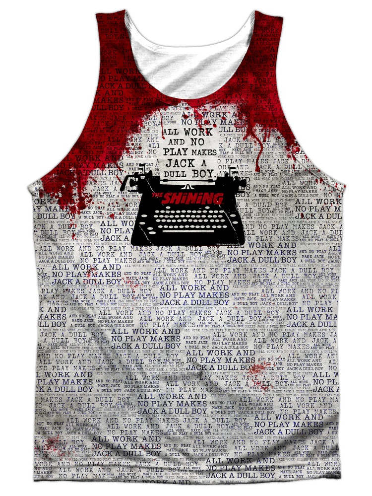 The Shining All Work Officially Licensed Sublimation Adult Tank Top