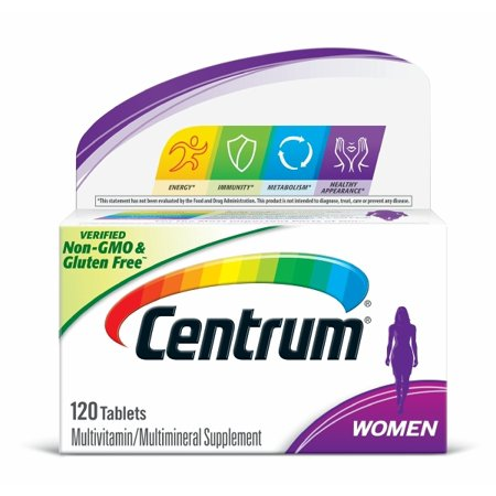 - Centrum Women (120 Count) Multivitamin / Multimineral Supplement Tablet, Vitamin D3