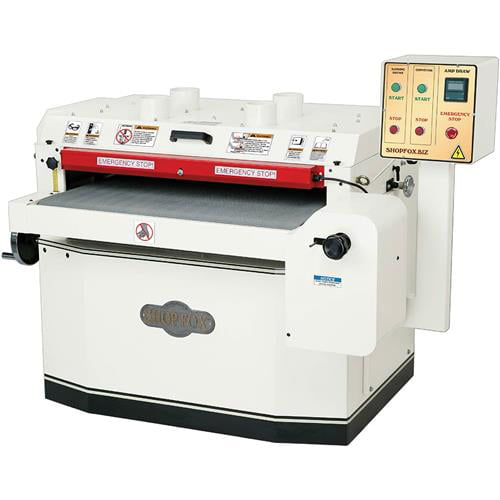 "Shop Fox W1773 15 H.P. 3-Phase 37"" Drum Sander with Variable Speed & Amp Meter by"