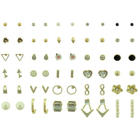 30 Pair Stud Earring Set
