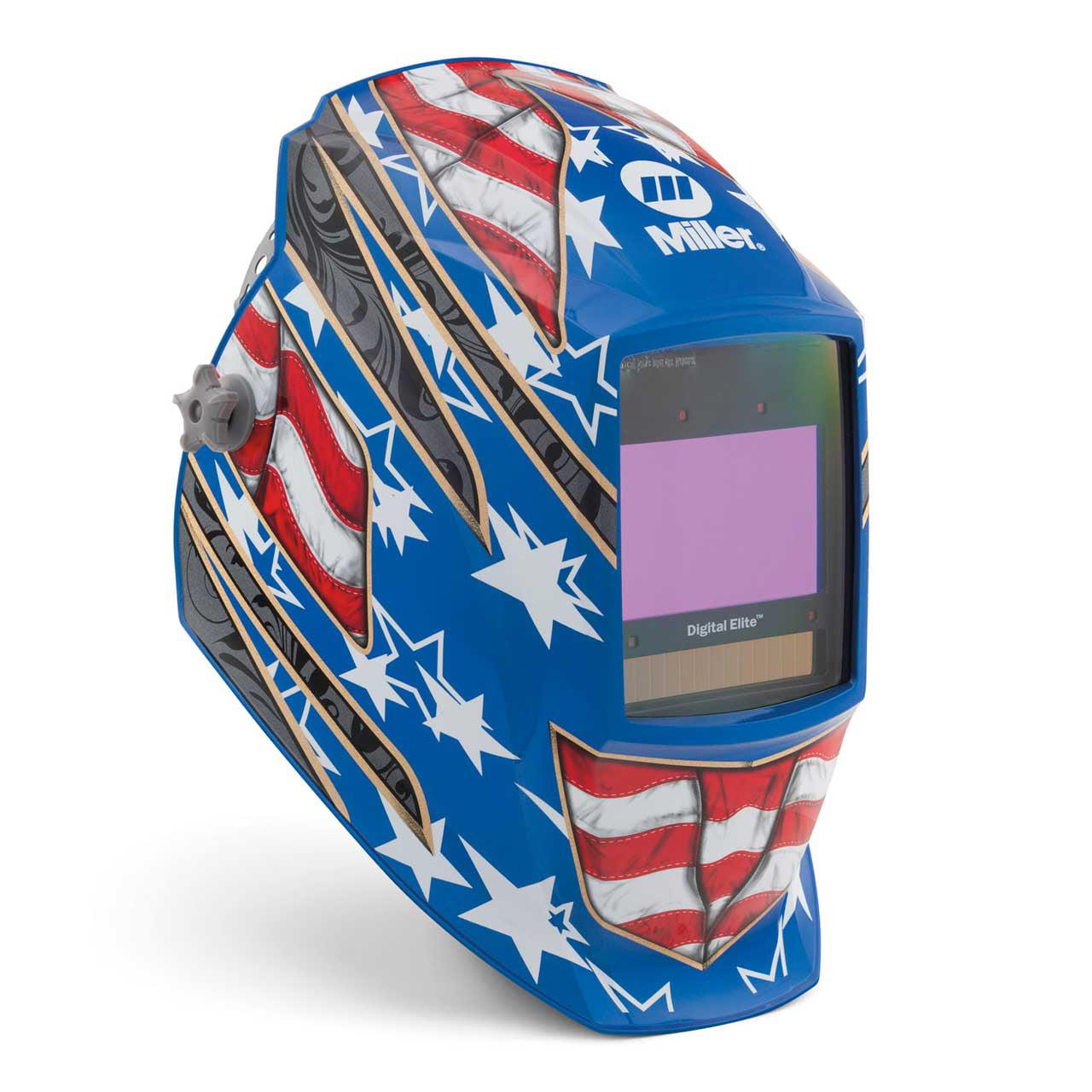 Miller 281002 Digital Elite Welding Helmet with ClearLight Lens, Stars & Stripes III