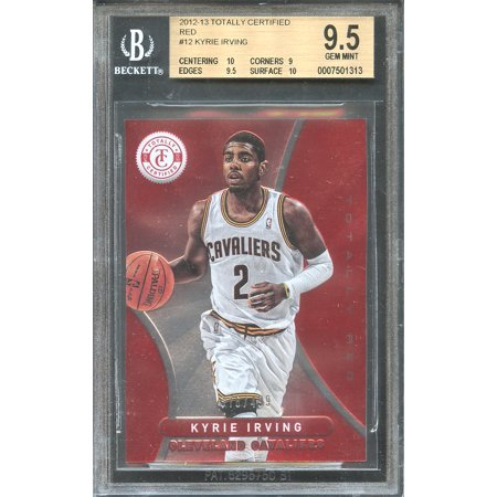 - 2012-13 totally certified red #12 KYRIE IRVING rookie BGS 9.5 card (10 9.5 9 10)