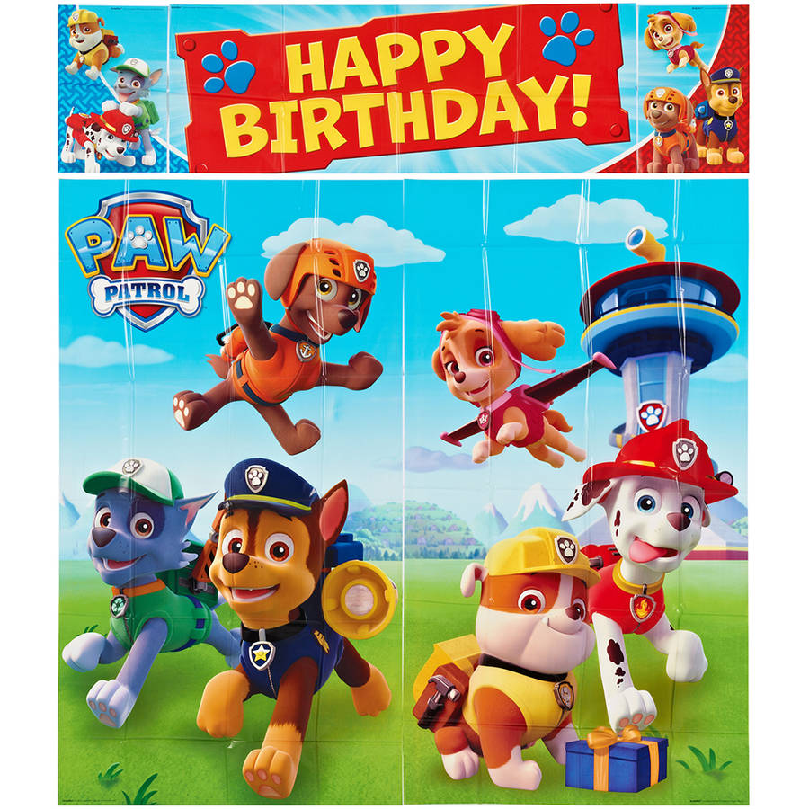 Paw Patrol Party Wall Decorations, 5pc