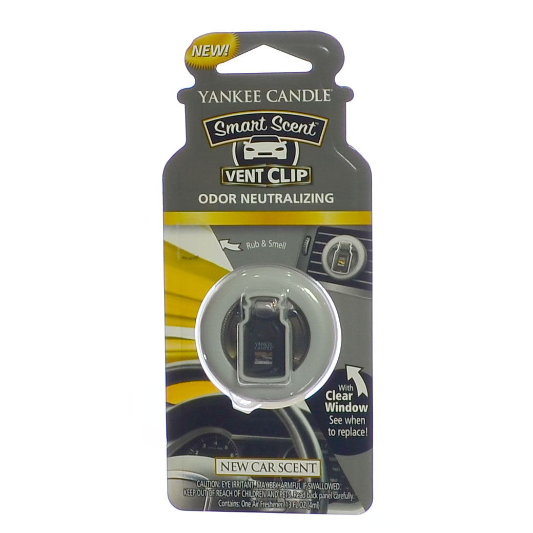 Yankee Candle Smart Scent Vent Clip Car & Home AC Air Freshener, New Car