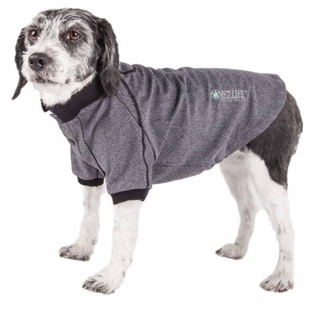 Pet Life PLHL2GYLG Active Fur-Flexed Relax-Stretch Wick-Proof Performance Dog Polo T-Shirt, Grey - Large - image 1 de 1