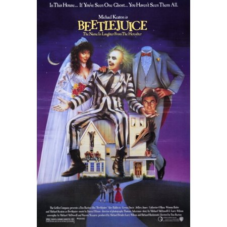 Beetlejuice Movie Poster Print (27 x 40)