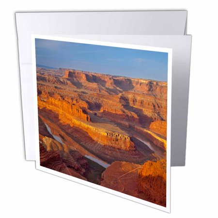 3dRose Colorado River, Canyonlands, Dead Horse SP, Moab Utah - US45 CHA0289 - Chuck Haney, Greeting Cards, 6 x 6 inches, set of 12