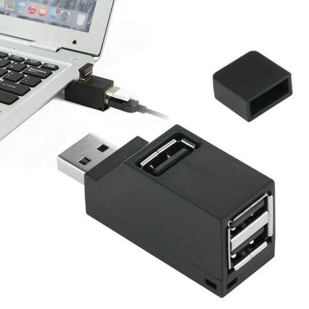 3 Port USB Hub Mini USB 2.0 High Speed Hub Splitter No Driver Needed for iMac Pro, MacBook Air, Mac Mini/Pro, Surface Pro, Notebook PC, Laptop, USB Flash Drives, and Mobile