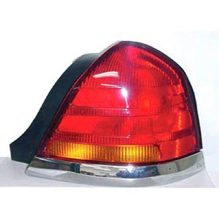 Go-Parts » 1998 - 2005 Ford Crown Victoria Rear Tail Light Lamp Assembly / Lens / Cover - Right (Passenger) Side - (Base Model + LX + Police Interceptor + S + Special Edition) 3W7Z 13404 CA)