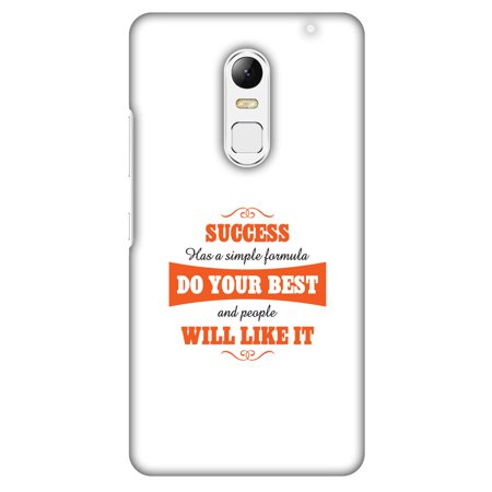 Lenovo Vibe X3 Case, Premium Handcrafted Designer Hard Shell Snap On Case Printed Back Cover with Screen Cleaning Kit for Lenovo Vibe X3, Slim, Protective - Success Do Your