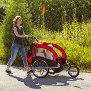 2 In 1 Bicycle Trailer Stroller With Brakes