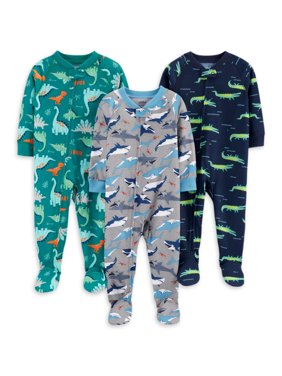 Child of Mine by Carter's Baby Toddler Boy Poly Sleeper Pajamas, 3-Pack