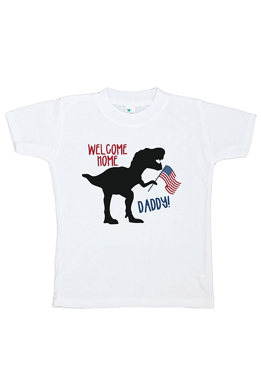 Custom Party Shop Kids Dinosaur 4th of July T-shirt - 4T