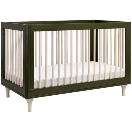 Babyletto Lolly 3 In 1 Convertible Crib Olive And Washed Natural