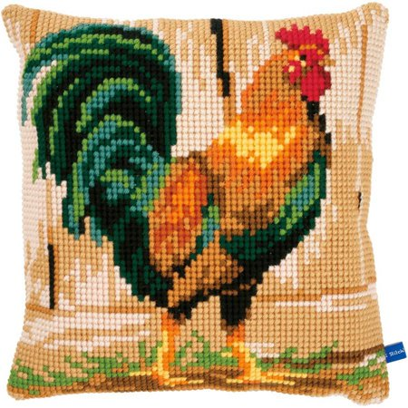 Rooster Cushion Cross Stitch Kit, 15.75