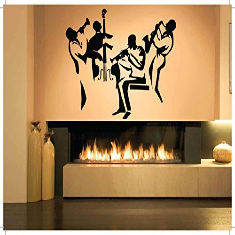 Wall Room Decor Art Vinyl Sticker Mural Decal Music Jazz Band Big Large AS915