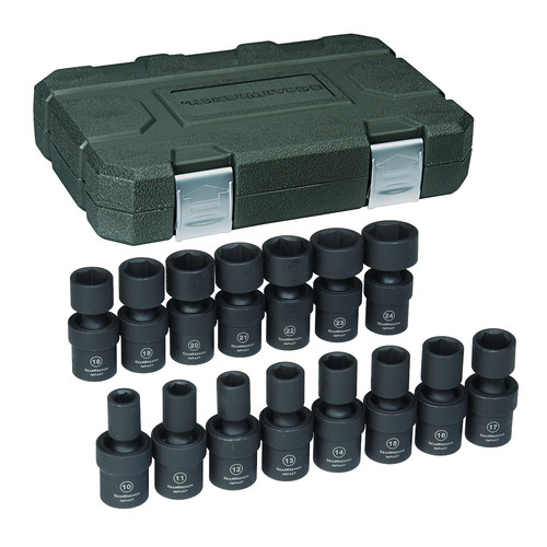 in. Drive 6-Point Metric Universal Impact Socket Set - Walmart.com