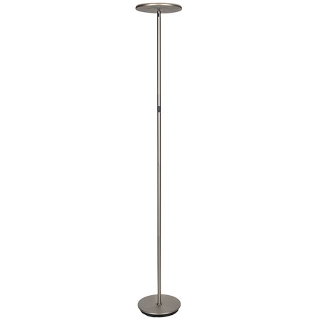Modern Torchiere Floor Lamp (Brightech Sky LED Torchiere Super Bright Floor Lamp - Tall Standing Modern Pole Light for Living Rooms & Offices - Dimmable Uplight for Reading Books in Your Bedroom etc -)
