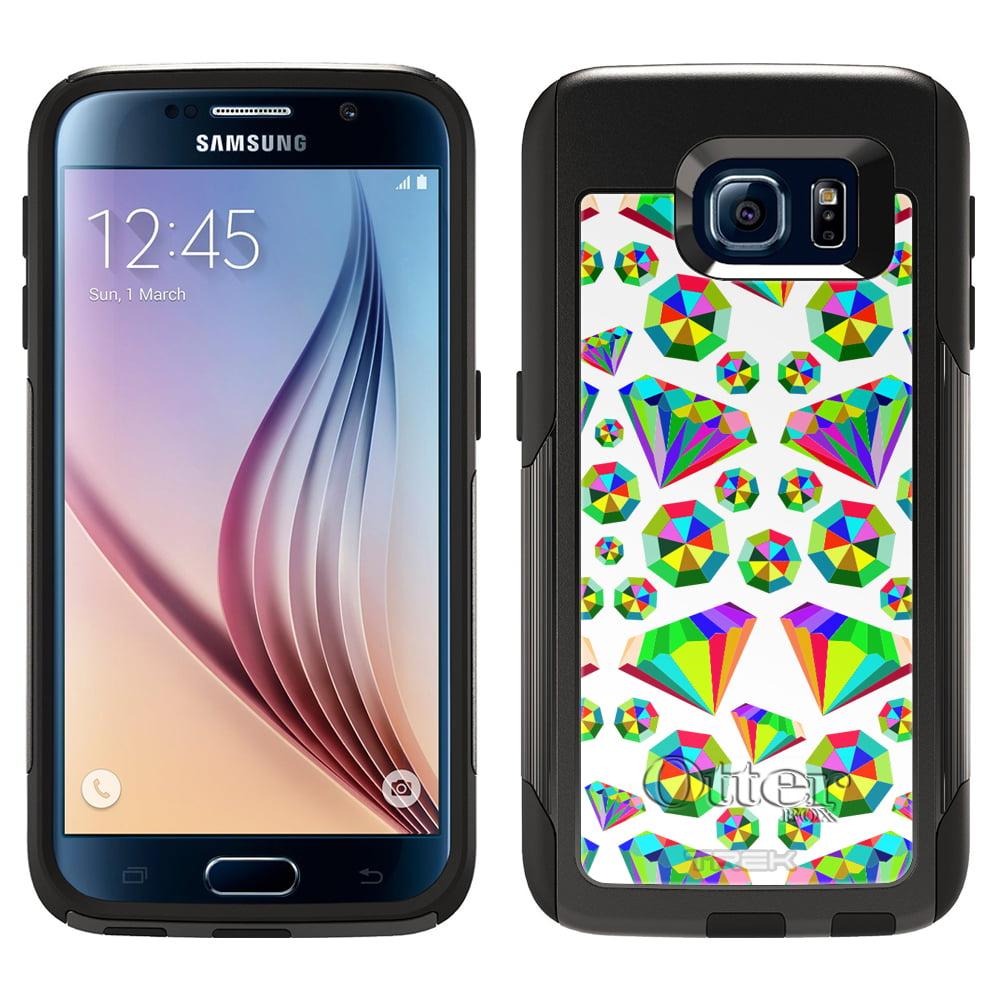 OtterBox Commuter Samsung Galaxy S6 Case - Epic Rainbow Diamonds on White OtterBox Case