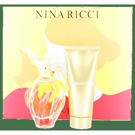 L'Air Du Temps by Nina Ricci For Women Set: EDT spray 3.4 oz + BL 3.4 oz