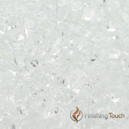 "8 Pound Container of 1/4"" Crushed Ice Fireglass"