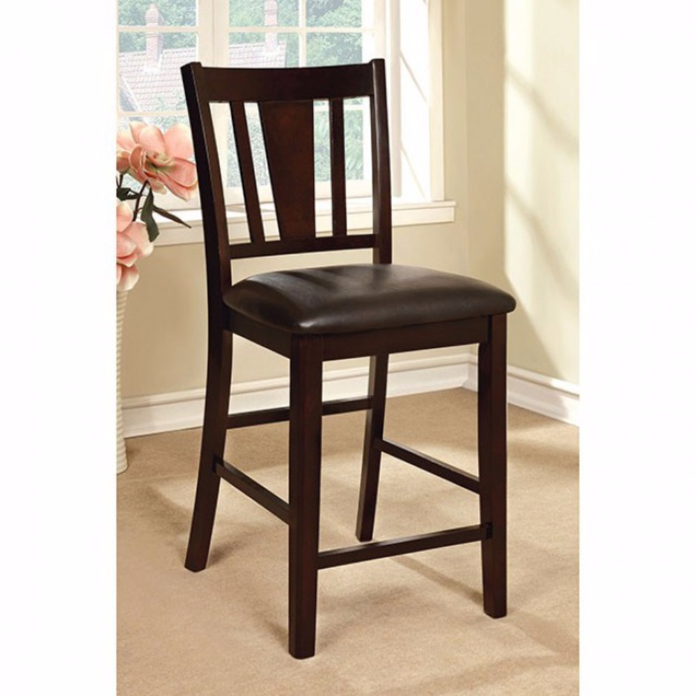 Bridgette II Leatherette Parson Chair Counter Height Chair, Set Of 2