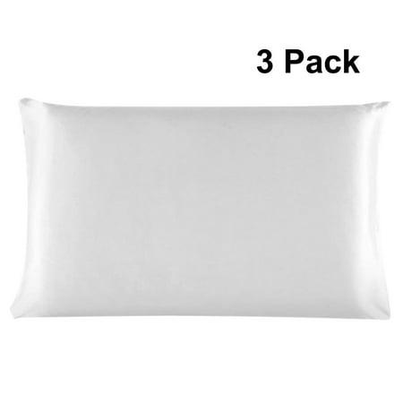 Unique Bargains 100% Mulberry Silk Pillowcase Pillow Case Cover Standard