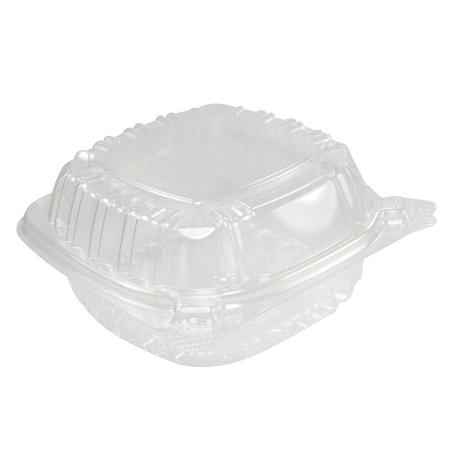 """5/"""" Sandwich Container White Foam Hinged Lid Food Tray Dart Take Out Party 25"""