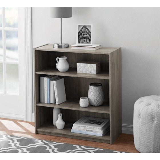 Mainstays 3 Shelf Bookcase Multiple Colors
