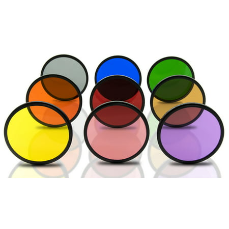 Opteka 52mm HD Multicoated Solid Color Special Effect Filter Kit For Digital SLR Cameras Includes: Red, Orange, Blue, Yellow, Green, Brown, Purple, Pink and Gray ND Filters