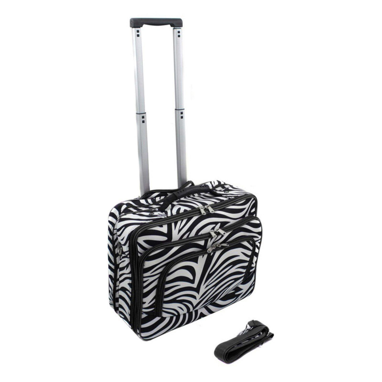 World Traveler Zebra Rolling 17 in. Laptop Case by World Traveler
