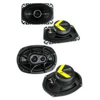 "2) Kicker 41DSC464 4x6"" 120W 2-Way + 2) 41DSC6934 6x9"" 360W 3-Way Car Speakers"