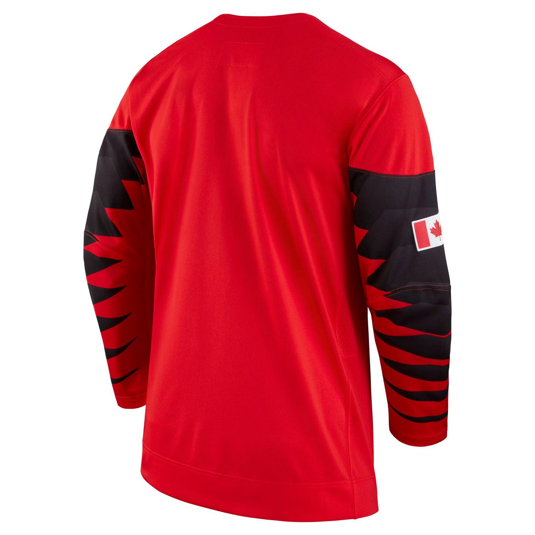 167963c0654 Nike Team Canada Nike 2018 Olympic Red Hockey Jersey
