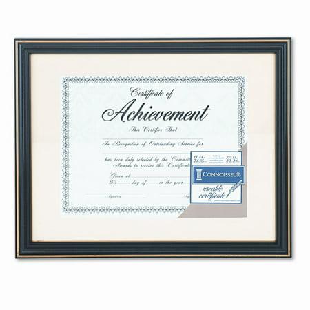 Dax Gold Trimmed Document Frame  Wood  11 X 14  8 1 2 X 11  Black