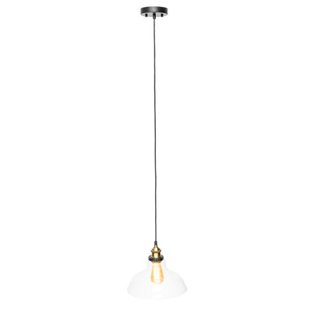 - Best Choice Products Industrial Hanging Single Glass Pendant Light w/ Adjustable Cord - Bronze