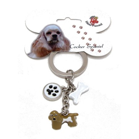 Cocker Spaniel Enameled Keychain