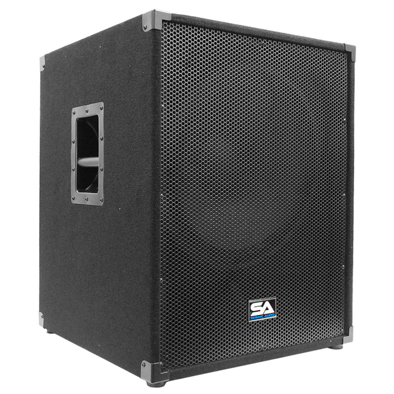 "Seismic Audio 18"" Subwoofer PA DJ PRO Audio Band Speaker New Sub - SAP-18SFF"