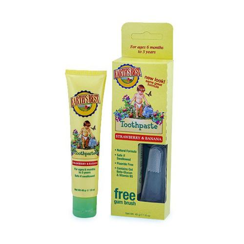 Toddler Toothpaste Strawberry & Banana Earths Best 1.6 oz Paste