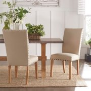 Signal Hills  Aberdeen Beige Upholstered Nail ad Parson Chair (Set of 2)